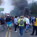 Las movilizaciones empezaron con cierres de vías en Guayas y Los Ríos